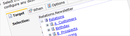 Send emailings to relations