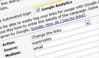 Copernica email statistics and Google Analytics