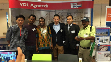 Area Manager Wilco Verhoijsen (centre) with students during the event.