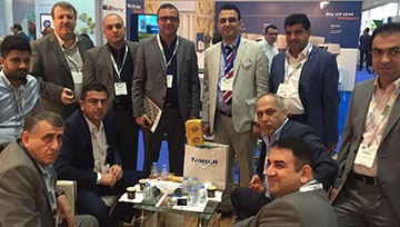 A group of poultry companies from Iraq visiting our booth.